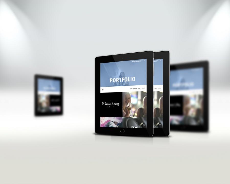 Underpier 27 Webseite - iPad